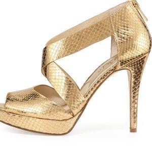 MK gold sandals